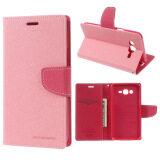 ขาย ซื้อ Mercury Goospery Leather Stand Case For Samsung Galaxy J7 Sm J700F Pink จีน