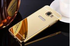 ราคา Metal Frame Mirror Back Cover Case For Samsung Galaxy A9 Pro Gold Intl