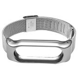 ขาย Metal Replacement Screwless Automatic Buckle Watchband Smart Watch Band Strap Bracelet For Mi Band 2 Silver Silver Intl จีน ถูก