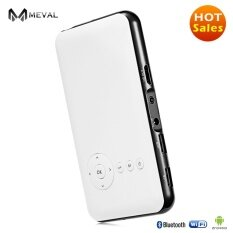 ขาย Meval Best Buy โปรเจคเตอร์ Portable Led Projector Android 4 Os Wifi Function 1080P Hd Home Theater Business Presentation 1G 8G S6 White Meval ออนไลน์
