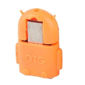 Micro OTG Android สำหรับมือถือ และแท็บเล็ต (Orange)