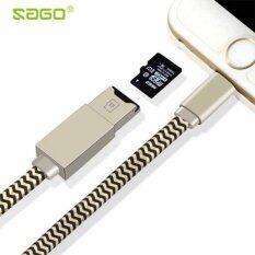 ราคา Micro Sd Cable 3 In 1 Phone Cable For Lightning Data Charging Cable Micro Sd Tf Card Reader Writer For Iphone 7 5S 6 6S For Ipad การ์ดรีดเดอร์สำหรับไอโฟน ไอแพด Sago ออนไลน์