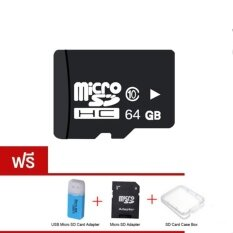 Micro Sd Card 64 Gb Class 10 Fast Speed Micro Sd Adapter Sd Case Box Usb Micro Sd Card Adapter กรุงเทพมหานคร