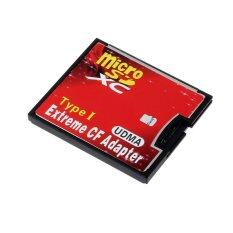 ราคา Micro Sd Tf Sdhc To Type I 1 Compact Flash Card Cf Reader Adapter Udma Red ถูก