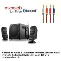 โปรโมชั่น Microlab M 300Bt 2 1 Bluetooth Speaker Black ฟรี สายถัก Audio Cable 1 5M มูลค่า 499 บาท กรุงเทพมหานคร