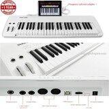 ราคา เปียโนไฟฟ้า Midiplus Easy Piano 49 Keyกับสเป็คมาเต็ม คีย์มีนํ้าหนักแบบ Semi Weight คีย์สามารถเล่นหนักเบาได้ Velocity Sensitive และมาพร้อมลำโพงในตัว เป็นต้นฉบับ