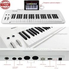 ขาย เปียโนไฟฟ้า Midiplus Easy Piano 49 Keyกับสเป็คมาเต็ม คีย์มีนํ้าหนักแบบ Semi Weight คีย์สามารถเล่นหนักเบาได้ Velocity Sensitive และมาพร้อมลำโพงในตัว Melody ออนไลน์