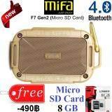โปรโมชั่น Mifa F7 Gen2 Micro Sd Card Portable Bluetooth 4 Speaker ลำโพงบลูทูธพกพาคุณภาพเสียงระดับเทพ เสียบ Micro Sd Card ฟังเพลงได้เลย เบสหนักจนเครื่องเต้น อึด ทนทาน นาน เสียงดี ของแท้รับประกันยาวๆ 1 ปี แถมฟรี Micro Sd Card 8 Gb มูลค่า 490 บาท Mifa