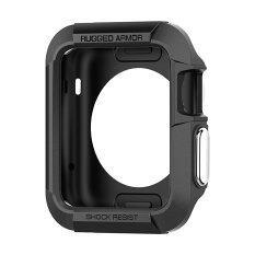 ส่วนลด การป้องกันความรุนแรงต่อต้านยานเกราะ Miimall ซิลิโคนเคสยางอ่อนสำหรับ Apple Watch 38มม สีดำ Miimall ใน จีน