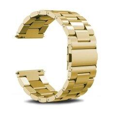 ทบทวน Miimall Fitbit Blaze Watch Band Universal Stainless Steel Metal Watch Band Strap Bracelet For Fitbit Blaze Smart Fitness Watch Black Gold Silver Intl