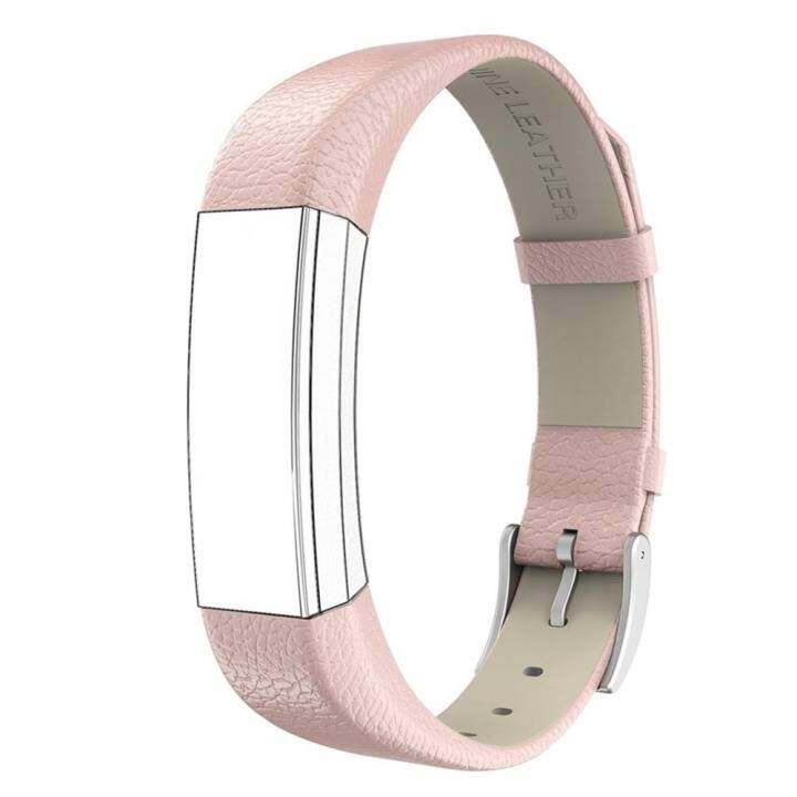 Miimall Genuine Leather Band Strap With Buckle Replacement Wristband for Alta and Alta HR Accessories -