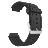 Miimall Soft Silicone Replacement Fitness Bands Wristbands With Metal Clasps For Garmin Vivoactive Smart Watch Black Intl ถูก