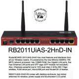 ซื้อ Mikrotik Rb2011Uias 2Hnd In Complete With Case Antennas Power Supply Touchscreen Lcd Panel Fiber Enabled Mikrotik
