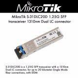 ส่วนลด Mikrotik S 31Dlc20D 1 25G Sfp Transceiver 1310 Nm Dual Lc Connector 20 000 Meter Single Mode Fiber Connection With Ddmi