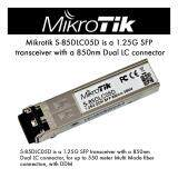ทบทวน Mikrotik S 85Dlc05D ของแท้รับประกัน 1 ปี 1 25G Sfp Transceiver 850 Nm Dual Lc Connector 550 Meter Multi Mode Fiber Connection With Ddmi