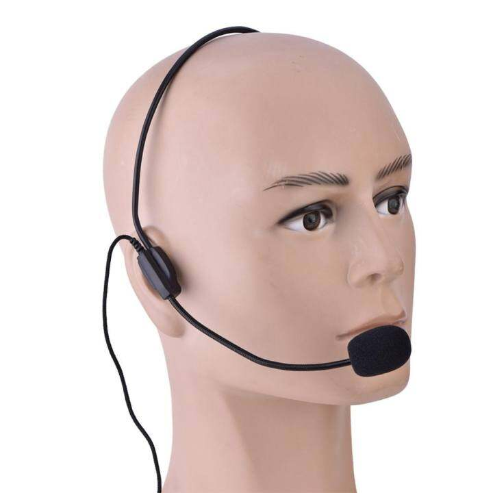 โปรโมชั่น Mini 3.5mm Head-mounted Wired Microphone Condenser MIC for Voice