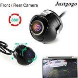 ราคา Justgogo Universal Mini Ccd High Definition Night Vision 360 Degree Car Rear Front Side View Backup Camera With Mirror Image Conversion Lines ที่สุด