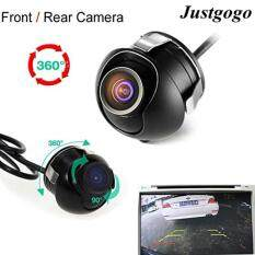โปรโมชั่น Justgogo Universal Mini Ccd High Definition Night Vision 360 Degree Car Rear Front Side View Backup Camera With Mirror Image Conversion Lines ถูก
