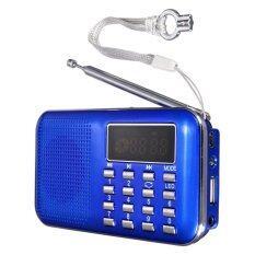 โปรโมชั่น Led ดิจิตอลแบบพกพามินิยูเอสบีไมโครเอสดีลำโพงวิทยุ Fm ได้ ถ้าเขา Mp3 เล่นดนตรี สีน้ำเงิน Intl