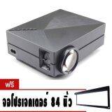 ขาย Mini Projector Led Projector Gm60 โปรเจคเตอร์ Gm60 ฟรี จอผ้า โปรเจคเตอร์ Projector Screen 84 Inch ใหม่