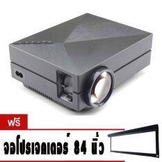 โปรโมชั่น Mini Projector Led Projector Gm60 โปรเจคเตอร์ Gm60 ฟรี จอผ้า โปรเจคเตอร์ Projector Screen 84 Inch Unbranded Generic ใหม่ล่าสุด