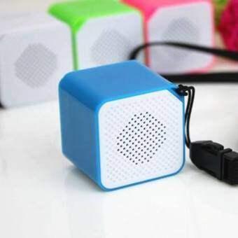 ขนาดพกพาขนาดเล็กป้องกันการรบกวนจากคลื่นแม่เหล็กไฟฟ้าเครื่องเล่นเพลง MP3 รูปทรงลูกบาศก์เสียงผู้เล่นรองรับ TF ลำโพง - นานาชาติ