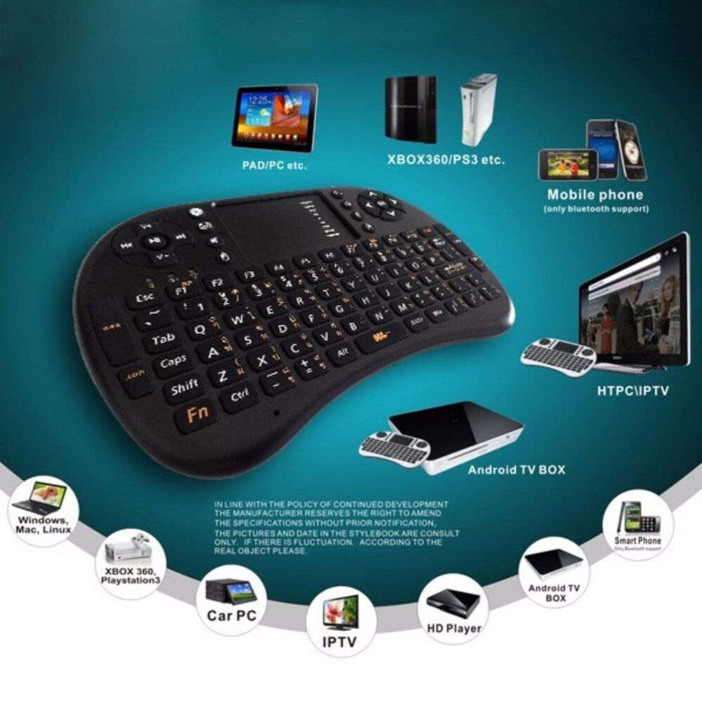 MINI WIRELESS KEYBOARD 2.4 Ghz TouchPad มีภาษาไทย สำหรับ TV,PC,NB,WINDOWS,MAC