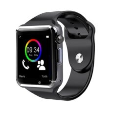 Miniso นาฬิกาโทรศัพท์ Bluetooth Smart Watch รุ่น A1 Phone watch(Black)