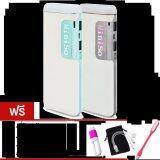 ราคา Miniso Power Bank Ledแบตสำรอง10000Mahรุ่นV8แพ็คคู่ Blue Gray ฟรี ซองกำมะหยี่ สายUsb 3 In 1 ที่ป้องกันสาย ไฟLed Usb คละสี ถูก