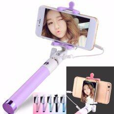 ขาย ไม้เซลฟี่รุ่นใหม่ มีกระจกไว้มองสำหรับถ่ายกล้องหลัง พกพาสะดวก Mirror Monopod Selfie Stick เป็นต้นฉบับ