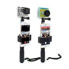 ตัวยึดมือถือ Monopod Phone Lock Clip Mount Gopro Hero 4 3 3+ Gopro Sjcam Sj4000 Sj5000 Xiao Yi Action Camera.