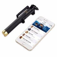 ราคา Monopod Selfie Stick ไม้เซลฟี่ถ่ายในตัว สีดำ Monopod