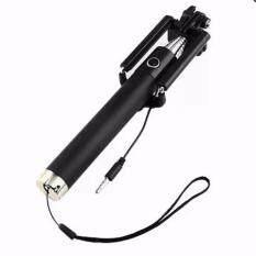 monopod selfie stick ไม้เซลฟี่สีดำพร้อมตัวกดถ่ายรูปในตัว (ปุ่มสีทอง).