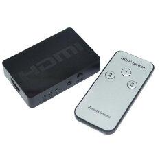 ซื้อ Moonar 3 To 1 Hdmi Switcher 1080P Hdminตัวสลับกับรีโมทคอนโทรลเลอร์รองรับ 3D วิดีโอ สีดำ Moonar