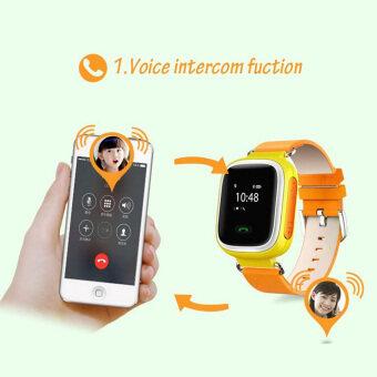 Moonar Q60 GPS แกรม GPRS ปัญญาสากลติดตามป้องกันการสูญหายรีโมทหน้าจอโทรศัพท์นาฬิกาหรูสำหรับเด็ก (ส้ม)