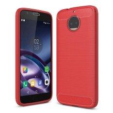 โปรโมชั่น กรณี Mooncase สำหรับ Motorola Moto G5S พลัสคาร์บอนไฟเบอร์ทนหล่นป้องกันรอยขีดข่วนกรณีเกราะทนทาน