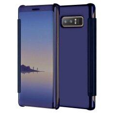 ซื้อ กรณี Mooncase สำหรับ Samsung Galaxy หมายเหตุ 8 ฝาครอบเลนส์พิเศษบางกรณีการป้องกันกรณีที่มีการนอนหลับสมาร์ท เช่นแสดง ใหม่ล่าสุด