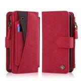 ราคา Mooncase สำหรับ Iphone ของแอปเปิ้ล Iphone X 5 8 กระเป๋าสตางค์หนังซิปกระเป๋าอเนกประสงค์กระเป๋าถือที่ถอดออกได้แม่เหล็กพร้อมติดตั้งฝาครอบ ราคาถูกที่สุด