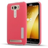 Moonmini Hybrid Combo Shockproof Back Case Cover For Asus Zenfone 2 Laser Ze550Kl 5 5 Inch Red ใน จีน