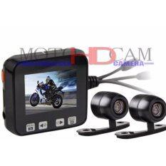 MotoHDcam กล้องติดรถจักรยานยนต์ รุ่น CJ06 Black กล้องหน้า-หลัง 2CH