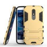 โปรโมชั่น Motorola Moto M Case Hybrid 2 In 1 Pc Silicone Dual Layer Bumper Protective Case Cover With Kickstand For Motorola Moto M Gold Intl