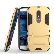 ขาย Motorola Moto M Case Hybrid 2 In 1 Pc Silicone Dual Layer Bumper Protective Case Cover With Kickstand For Motorola Moto M Gold Intl จีน