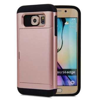 มัลติฟังก์ชั่นเคสสำหรับ Samsung Galaxy S6 ขอบบัตรเครดิตสล็อตกระเป๋าสตางค์กันกระแทก - นานาชาติ-
