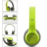 ซื้อ Multifunctional Wireless P47 Bluetooth V4 1 Stereo Headset Compatible With 3 5 Mm Audio Cable Support Music Card Fm Radio Over Ear Foldable Headset For Smart Phones Tablets And Computers Matte Colors Color Green Style Green Intl จีน