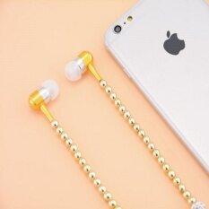 ขาย Mwcshopสี่สาวRhinestoneเครื่องประดับสร้อยคอมุกหูฟังพร้อมไมโครโฟน3 5มิลลิเมตรหูฟังสำหรับXiaomiหัวเว่ยB RithdayของขวัญโฟนเดอOuvido Oppo Iphone Samsung Fhulun ผู้ค้าส่ง