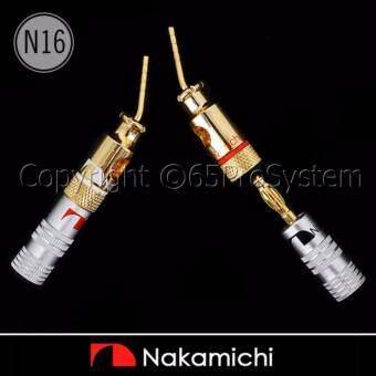 Nakamichi Pin Adapter (N16) นากามิชิหัวพินอะแดปเตอร์ 24K Gold plated 1คู่