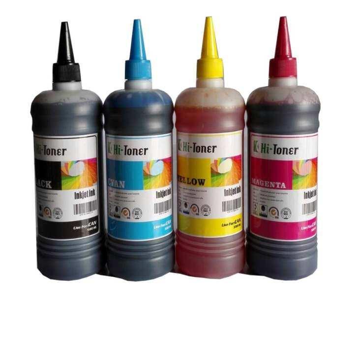 รีวิว น้ำหมึก Hi-toner 500ml 4 สี สำเครื่องพิมพ์ canon inkjet ทุกรุ่น