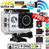 ขาย Nanotech 2017 กล้องกันน้ำ ถ่ายใต้น้ำ 4K Hd Wifi Action Camera 2 Inch 170 Degree Wide Angle Lens Action Camera Wifi 4K Waterproof Sports Action Camera Black ออนไลน์ ใน Thailand