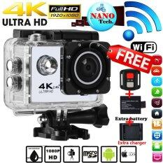 Nanotech 2017 กล้องกันน้ำ ถ่ายใต้น้ำ 4K HD Wifi Action Camera 2.0 Inch 170 Degree Wide Angle Lens Action Camera WIFI 4k Waterproof Sports Action Camera, Black