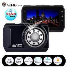 Nanotech กล้องติดรถยนต์ Novatec96223 A+grade High-Resolution 170-Degree Ultra-Wide-Angle Lens Car DVR (สีดำ)